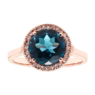 fancy vivid cut pin blue double diamond ring rose photo carat