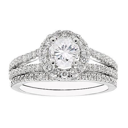 1.50 CT. T.W. Diamond Bridal Set in 14K Gold (I-I1)