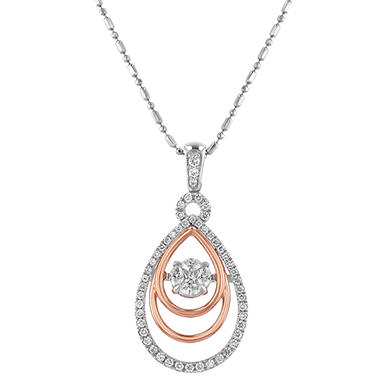 S collection 050 carat tear drop two tone diamond pendant in 14k s collection 050 carat tear drop two tone diamond pendant in 14k gold aloadofball Gallery