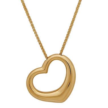 18 open heart pendant 14k yellow gold sams club 18 aloadofball Choice Image
