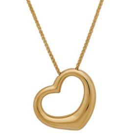 Gold necklaces pendants sams club 18 open heart pendant 14k yellow gold aloadofball Choice Image