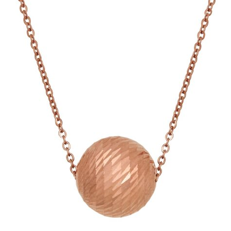 "18""-20"" Swirl Bead Slide Necklace in 14K Rose Gold"