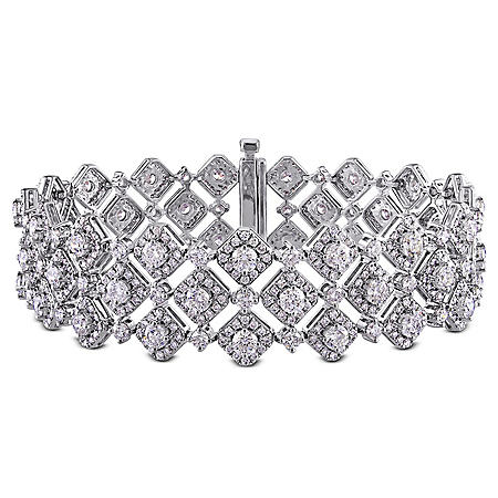 Allura 10.32 CT Diamond Lattice Bracelet in 18K White Gold