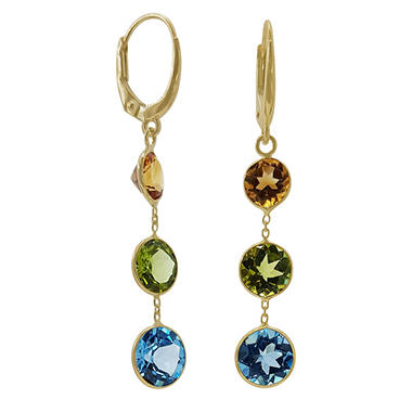 multi jewelry gemstone gold tcw yellow mosaic effy earrings