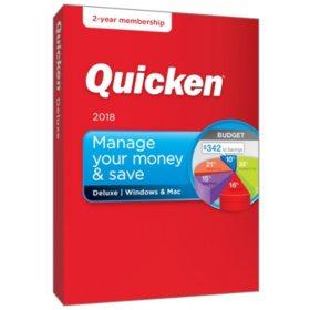 Quicken Deluxe 2 Year Win Mac 2018 Release