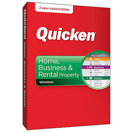 Quicken Home,  Business & Rental Property 2-Year Windows (2018 release)