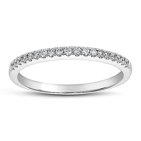 0.15 CT. T.W. Diamond Band in 14 Karat White Gold