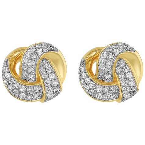 S Collection 0.55 CT. T.W. Love Knot Stud Earrings in 14K Yellow Gold