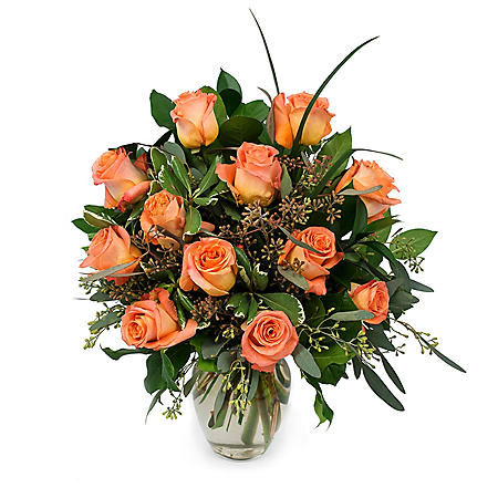 Rose Bouquet, Orange (Various Stem Counts)