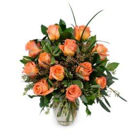 Rose Bouquet, Orange (Various Stem Counts)