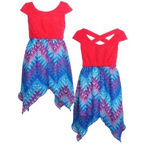 Pink & Violet Chiffon Dress