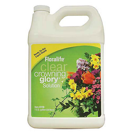 Floralife Crowning Glory Clear Hydration and Protection Spray, 1 Gallon (Choose 1 or 6 ct.)