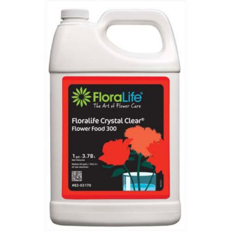 Floralife Crystal Clear 300 Liquid, 1 Gallon (Choose 1 or 6 ct.)