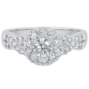 1.0 CT. T.W. Diamond Engagement Ring in 14K White Gold (H-I, I1)