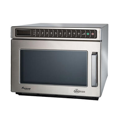 Amana HDC182 Heavy-Duty Compact Commercial Microwave Oven, 1800W