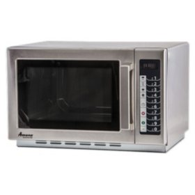 Amana RCS10TS Commercial Medium-Duty Microwave Oven with Push-Button Controls, 1000W