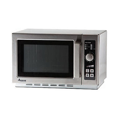Amana RCS10TS Commercial Medium-Duty Microwave Oven with Push Button Controls, 1000W