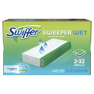 Swiffer Sweeper Wet Refills Choose Your Scent 64 Ct Sams Club