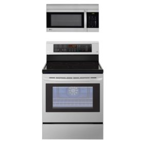 lg lre3193st lmv1762st single oven range with true convection and otr microwave with - Kitchen Appliance
