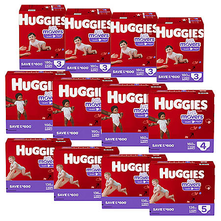 Huggies Little Movers 12-Month Supply Diaper Bundle