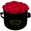 Everlasting Roses in Hat Box (Red or White Roses) Deals