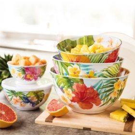 Melamine 10-Piece Mixing Bowl Set (Assorted Colors)