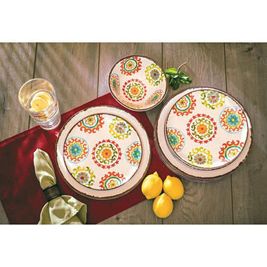 sc 1 st  Samu0027s Club & 18-Piece Melamine Dinnerware Set (Assorted Colors) - Samu0027s Club