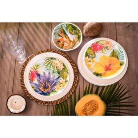 Melamine 18-Piece Dinnerware Set (Assorted Colors)