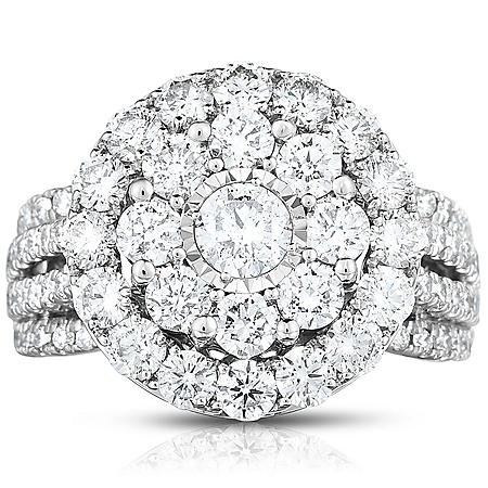 2.95 CT. T.W. Diamond Ring in 14K White Gold (HI-I1)