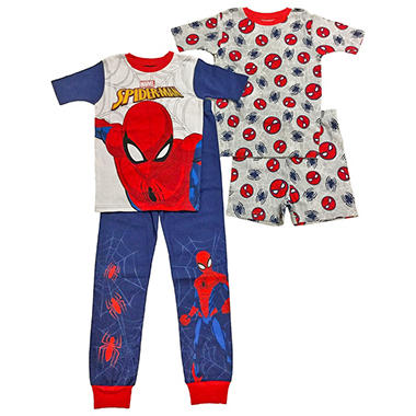 e2d50a8cb Spiderman 4-Piece Cotton Sleepwear Set - Sam s Club