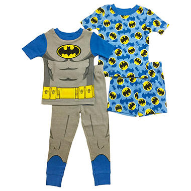 98ca58ac9 Batman 4-Piece Cotton Sleepwear Set - Sam s Club