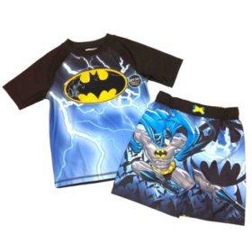 Batman Rashguard and Swim Trunk Set