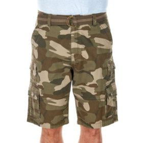 "IRON Clothing Men's ""Century"" Belted Twill Multi Pocket Cargo Short"