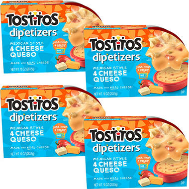 Tosos Dip Etizers Four Cheese 10 Oz 4 Ct