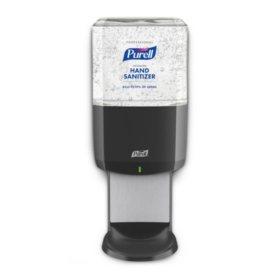 Purell Professional Hand Sanitizer Gel ES6 Starter Kit, Graphite Touch-Free Dispenser (1200ml refills, 2ct.)
