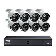 Lorex 8-Channel 4 Mega Pixel DVR Surveillance System with 2TB Hard Drive and H.264 Video Compression,  8x Weather Resistant 4 MP Bullet Cameras with 89° Viewing Angle and 130' Color Enhanced Night Vision
