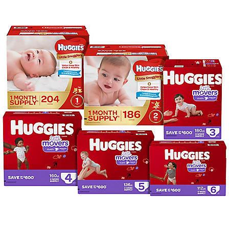 Huggies Lifetime Supply* Diaper Bundle (29 ct., 4634 diapers)
