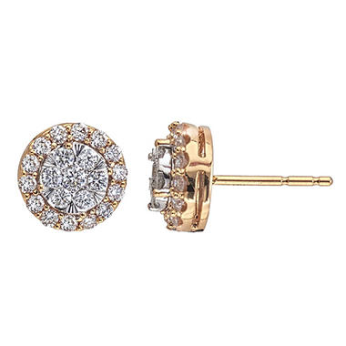 0.46 CT. T.W. Diamond Earrings in 14K Gold