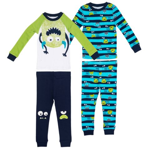 Member's Mark Boys' 4-Piece Pajamas