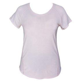 Tangerine Women's Open Lattice Trim Active Tee