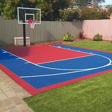 Small court diy backyard basketball system sam 39 s club for Basketball court cost estimate