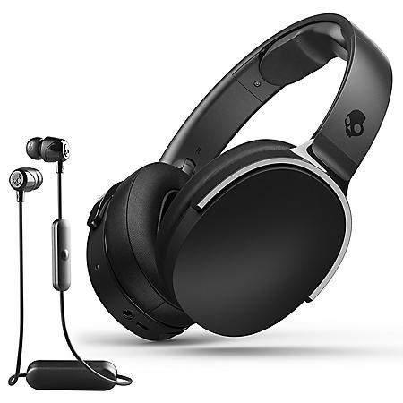 Skullcandy Hesh 3 Wireless Earphones with Jib Wireless Headphones Bundle