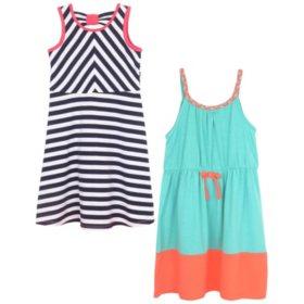 Pink & Violet Summer Two-fer Dresses