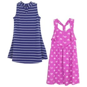 Pink & Violet Summer Two-fer Dresses