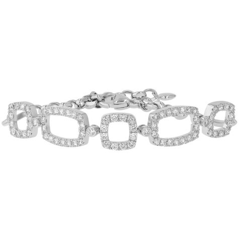 S Collection 1.75 CT. T.W. Diamond Open Link Bracelet in 14K White Gold