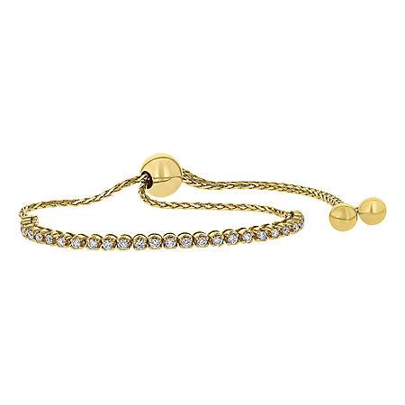 S Collection 0.50 CT. T.W. Diamond Tennis Bolo Bracelet in 14K Gold