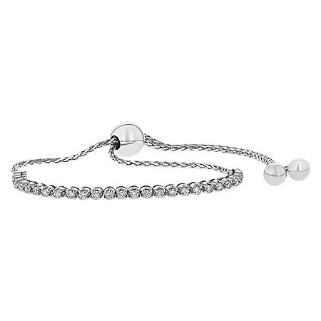 S Collection 0.50 CT. T.W. Diamond Tennis Bolo Bracelet in 14K Gold