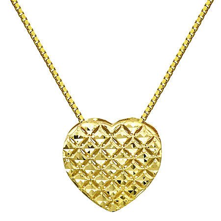 Diamond Cut Necklace in 14K Yellow Gold