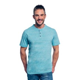Lee Mens' Short-Sleeve Textured Henley