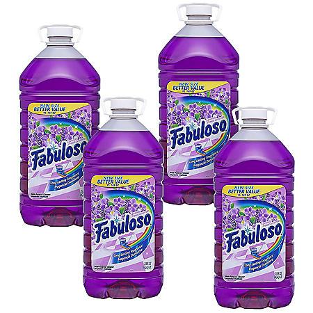 Fabuloso Multipurpose Cleaner, Lavender Scent 4pk. (1.64 gallons ea.)